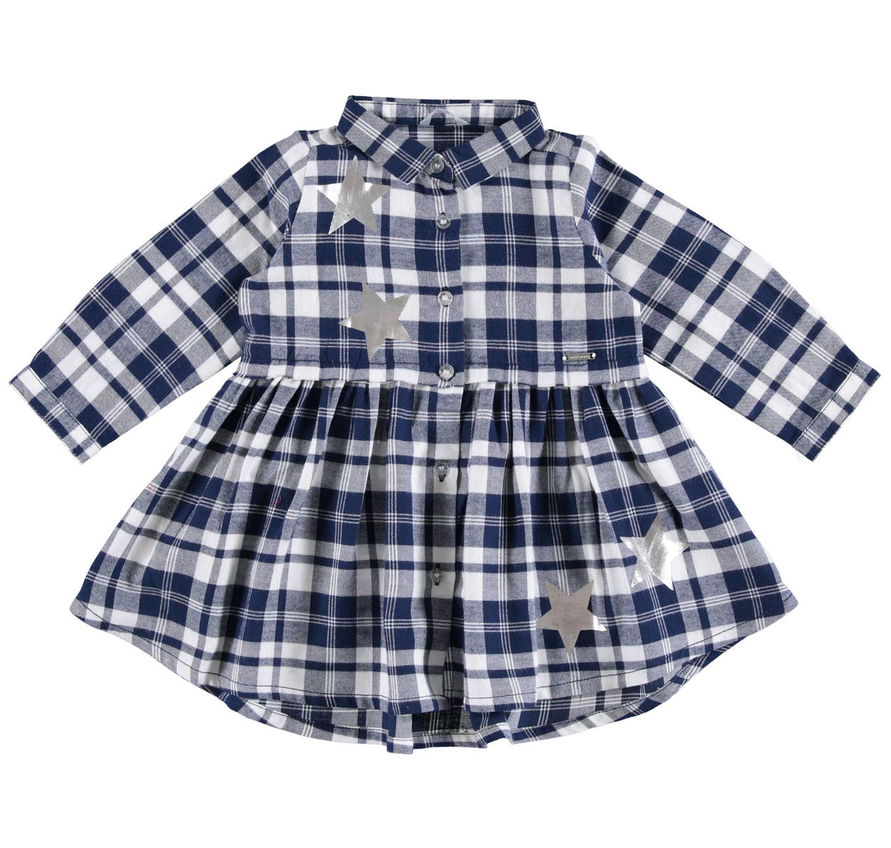 d6c464af Sarabanda 100% cotton checked shirt dress for girls from 6 months to 7  years NAVY