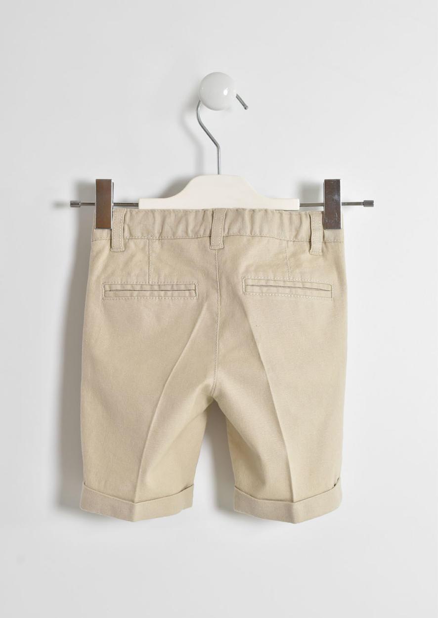 8623afca0b Elegante pantalone corto in misto lino per bambino da 6 mesi a 7 anni  Sarabanda
