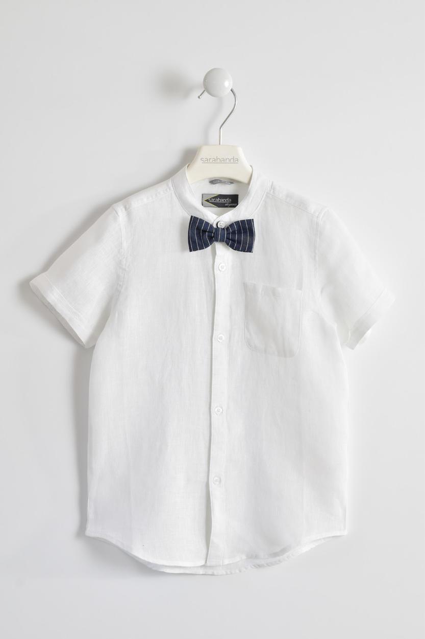 comprare popolare 23691 8b637 Camicia a mezza manica in fresco lino per bambino da 6 a 16 anni Sarabanda