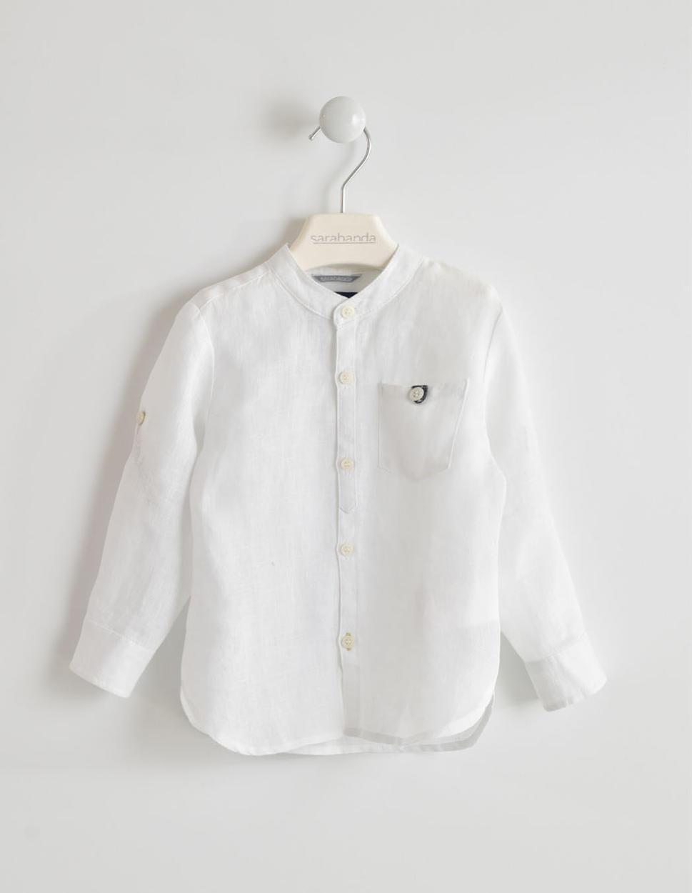 comprare popolare 268c0 0c8f8 Camicia in lino a manica lunga per bambino da 6 mesi a 7 anni Sarabanda
