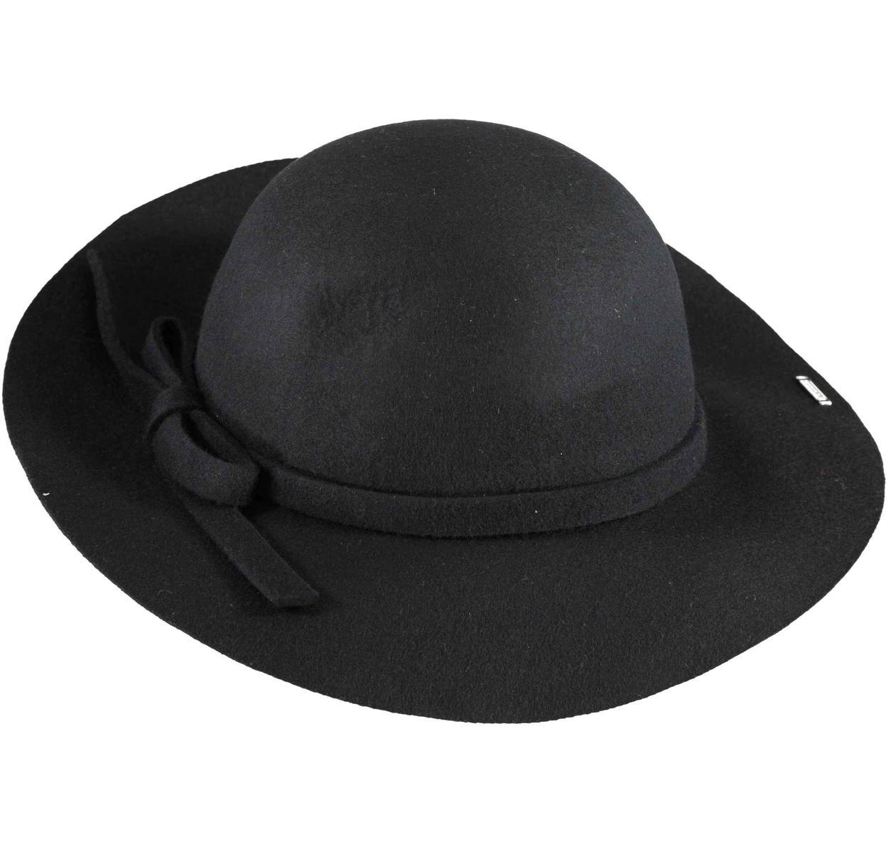 Cappello 100% lana modello borsalino per bambina da 6 a 16 anni Sarabanda  NERO- fa744629a1de