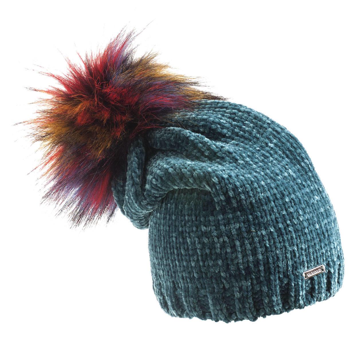 Cappello in ciniglia con particolare pom pon per bambina da 6 a 16 anni  Sarabanda VERDE 7c1fe45f8494