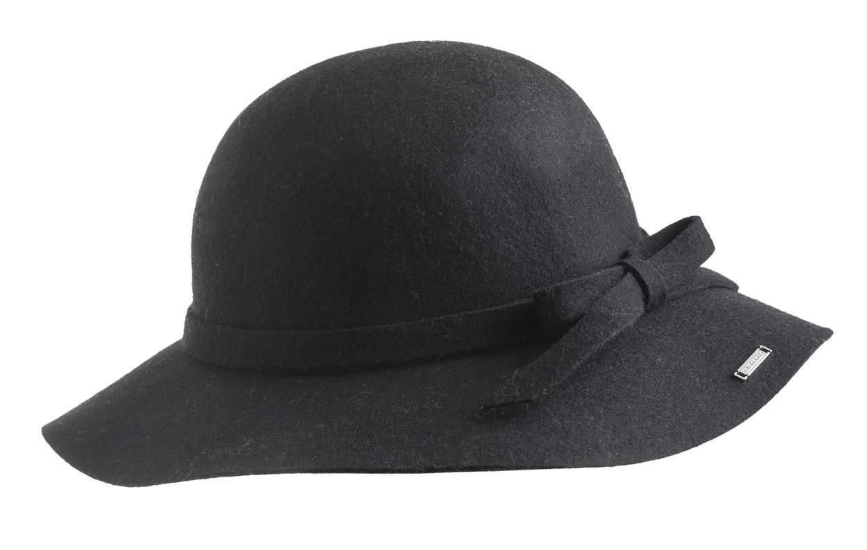 37f984727b556 Sarabanda borsalino hat with wide brim for girls from 6 months to 7 years  NERO-