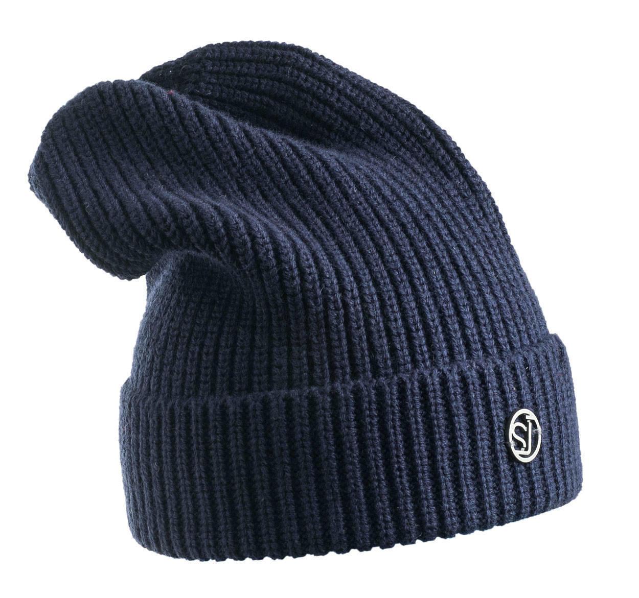 2a7c39ee9b Cappello modello cuffia a coste larghe per bambino da 6 a 16 anni Sarabanda  NAVY-