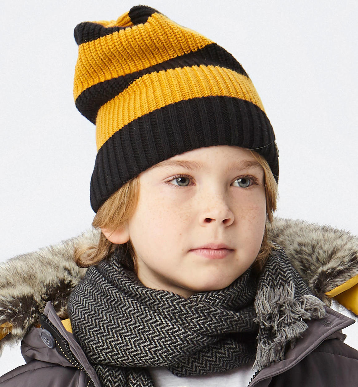 Sarabanda striped beanie for boys from 6 to 16 years OCRA-1536 b31b8a811964