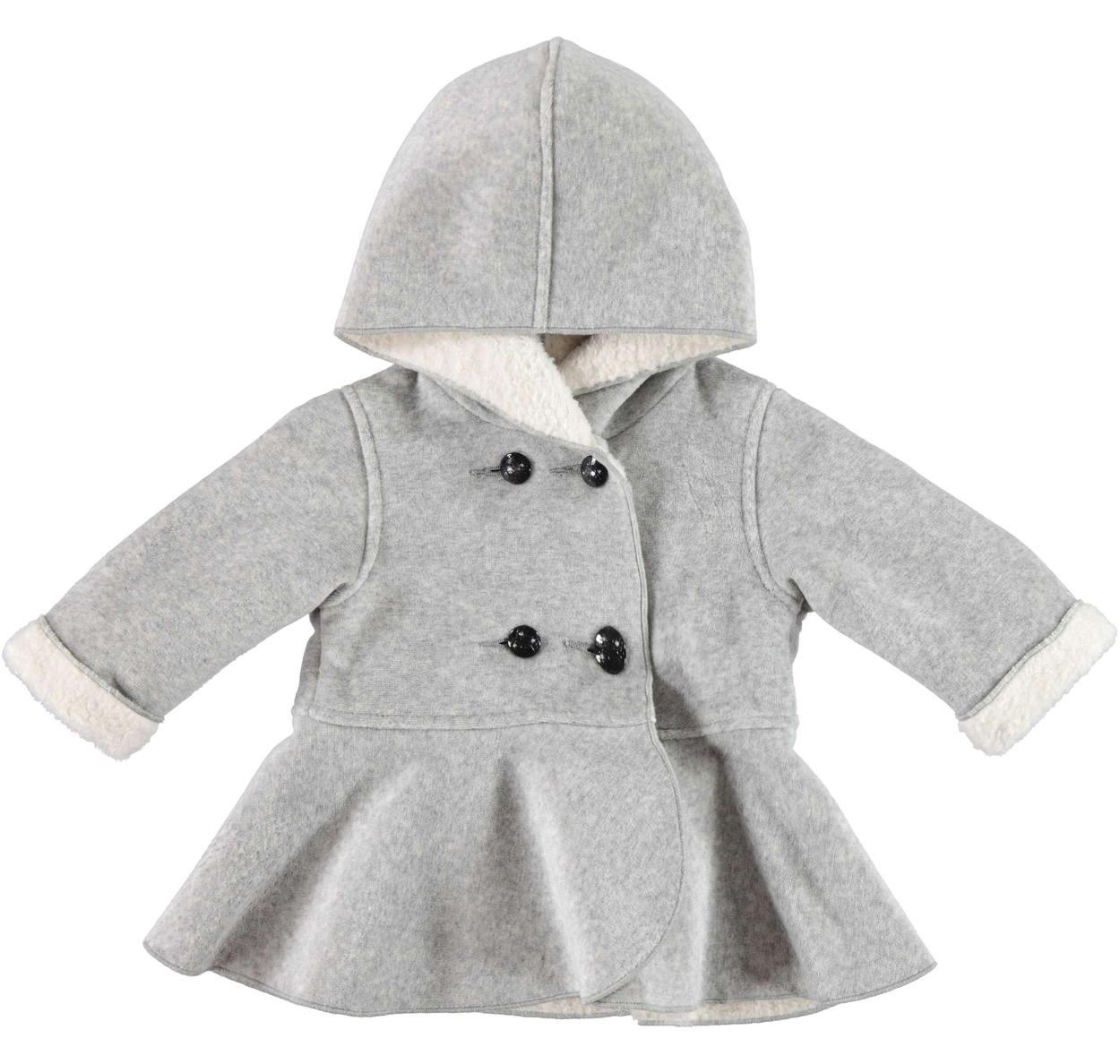 14eef3e926eb Minibanda double-breasted chenille and faux fur coat for babies from ...
