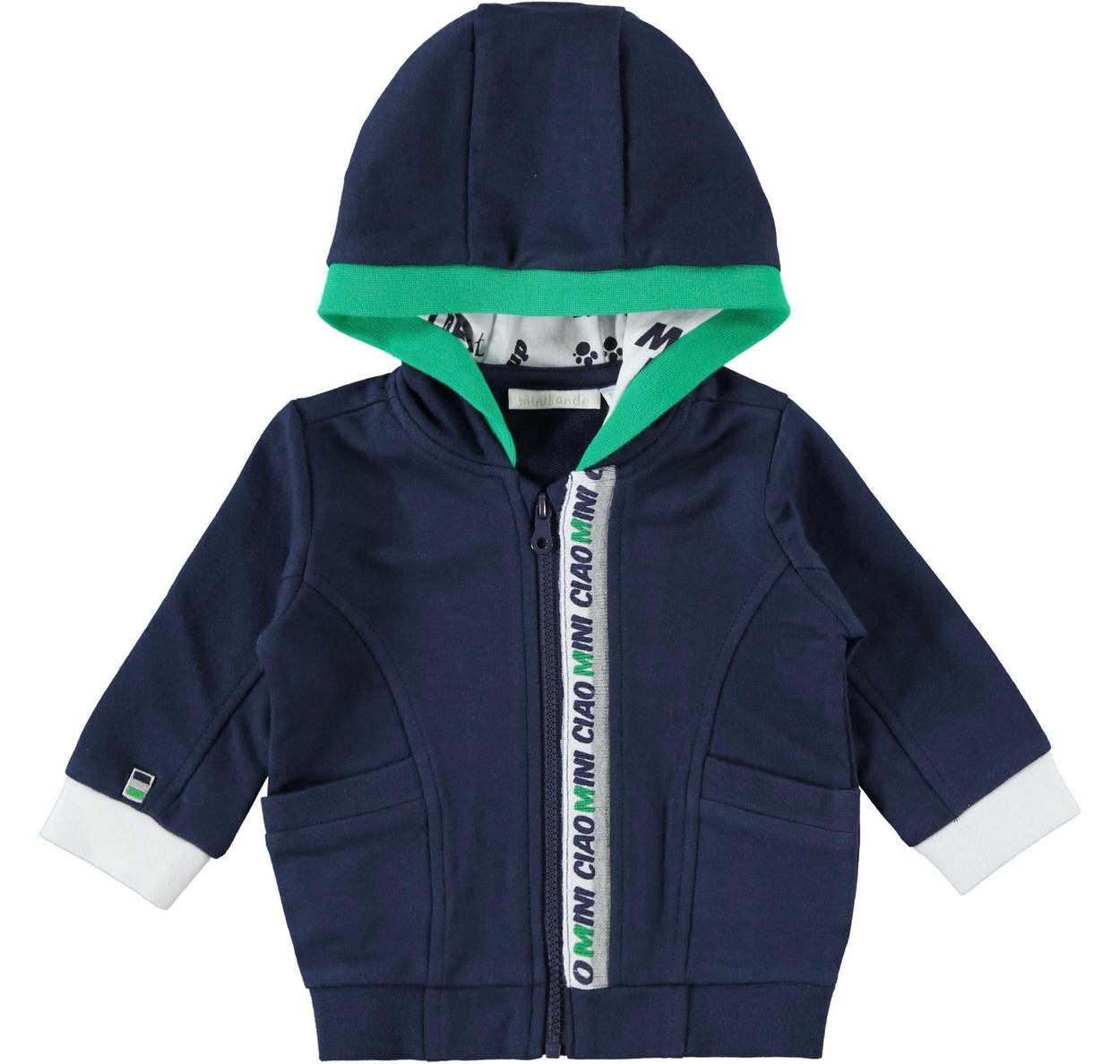 online retailer b5488 fb6a9 Comoda felpa a manica lunga con cappuccio per neonato da 0 a 24 mesi  Minibanda