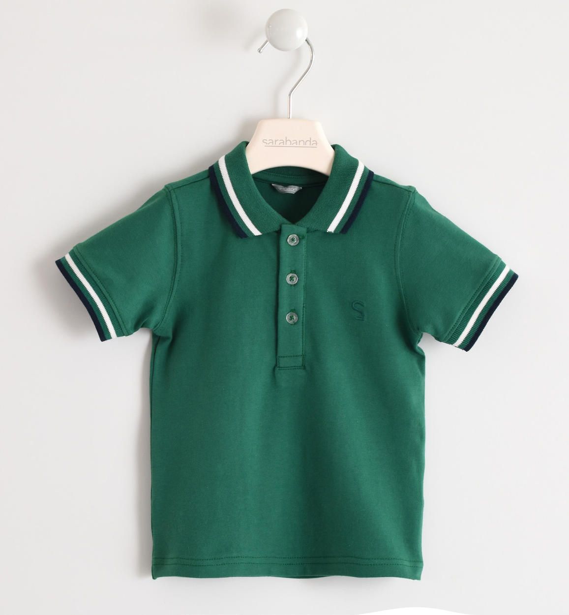Polo Verde Bambino.Short Sleeved Polo