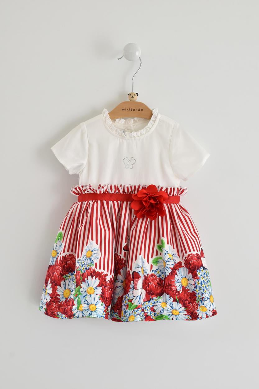 361e2abf2 Comfortable bicolour dress with broken effect 100% cotton for ...