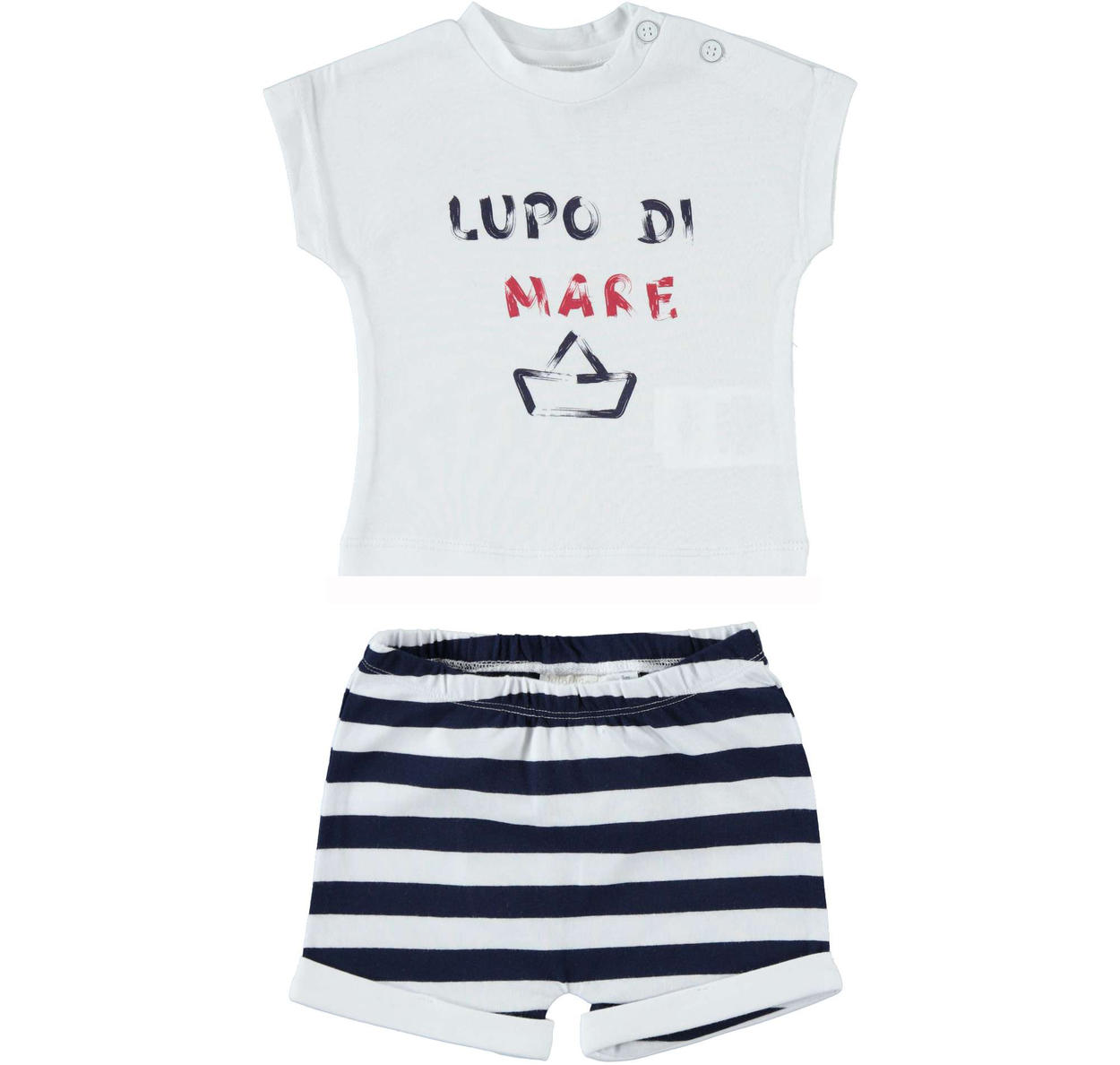 7e3cfe28e Summer two-piece outfit for baby boy in stretch cotton for newborn ...