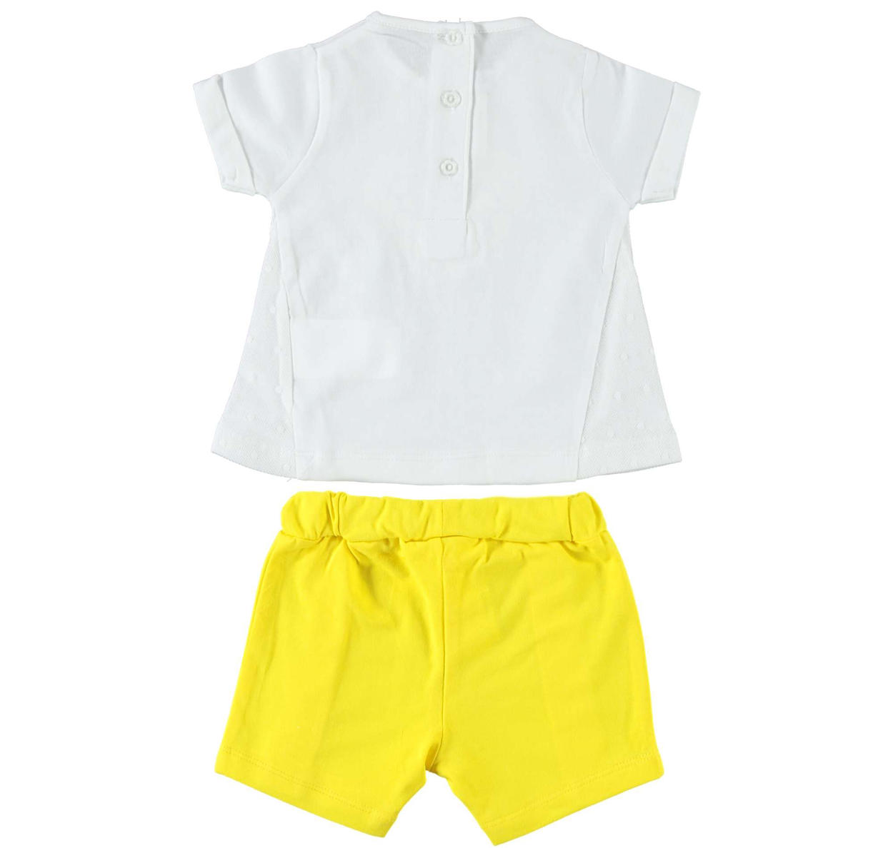 4a1dfc216e9 Two-piece baby girl Summer outfit full of style details for newborn from 0  to