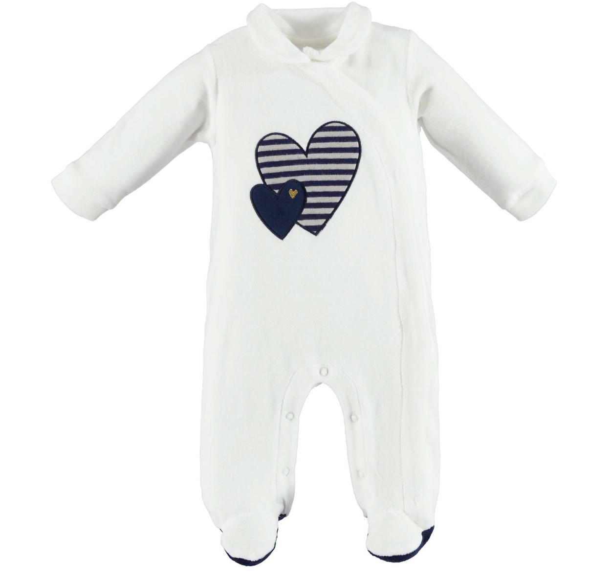 00962ea45570 Sweet Minibanda romper with hearts for babies from 0 to 24 months PANNA-0112