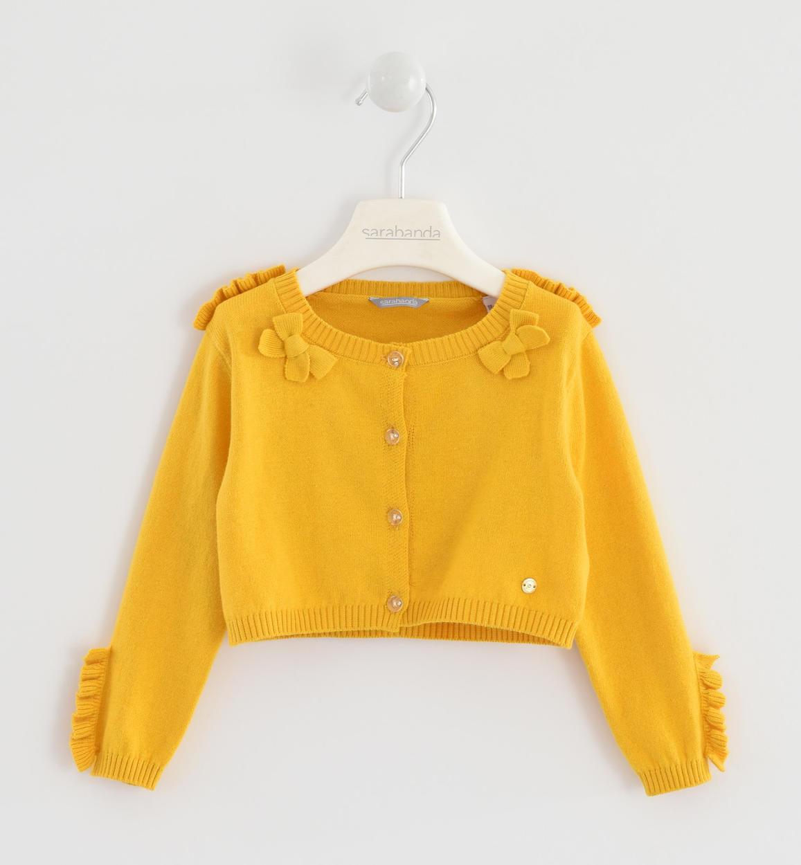 uk availability aaad5 6b86a Elegante coprispalle in morbido tricot con ruche per bambina da 6 mesi a 7  anni Sarabanda