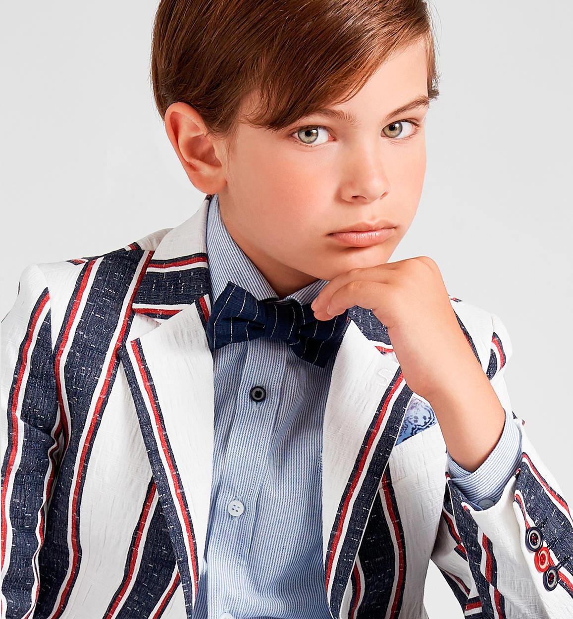 timeless design e6787 698ee Elegante e alla moda giacca in cotone stretch per bambino da ...