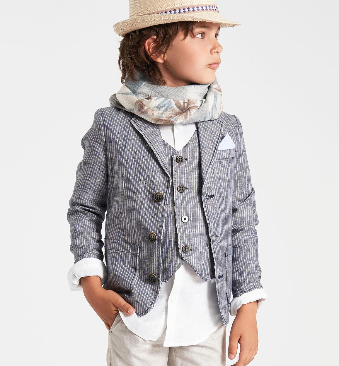 timeless design 261dd 7801a Elegante giacca cerimonia in tessuto rigato per bambino da 6 a 16 anni  Sarabanda