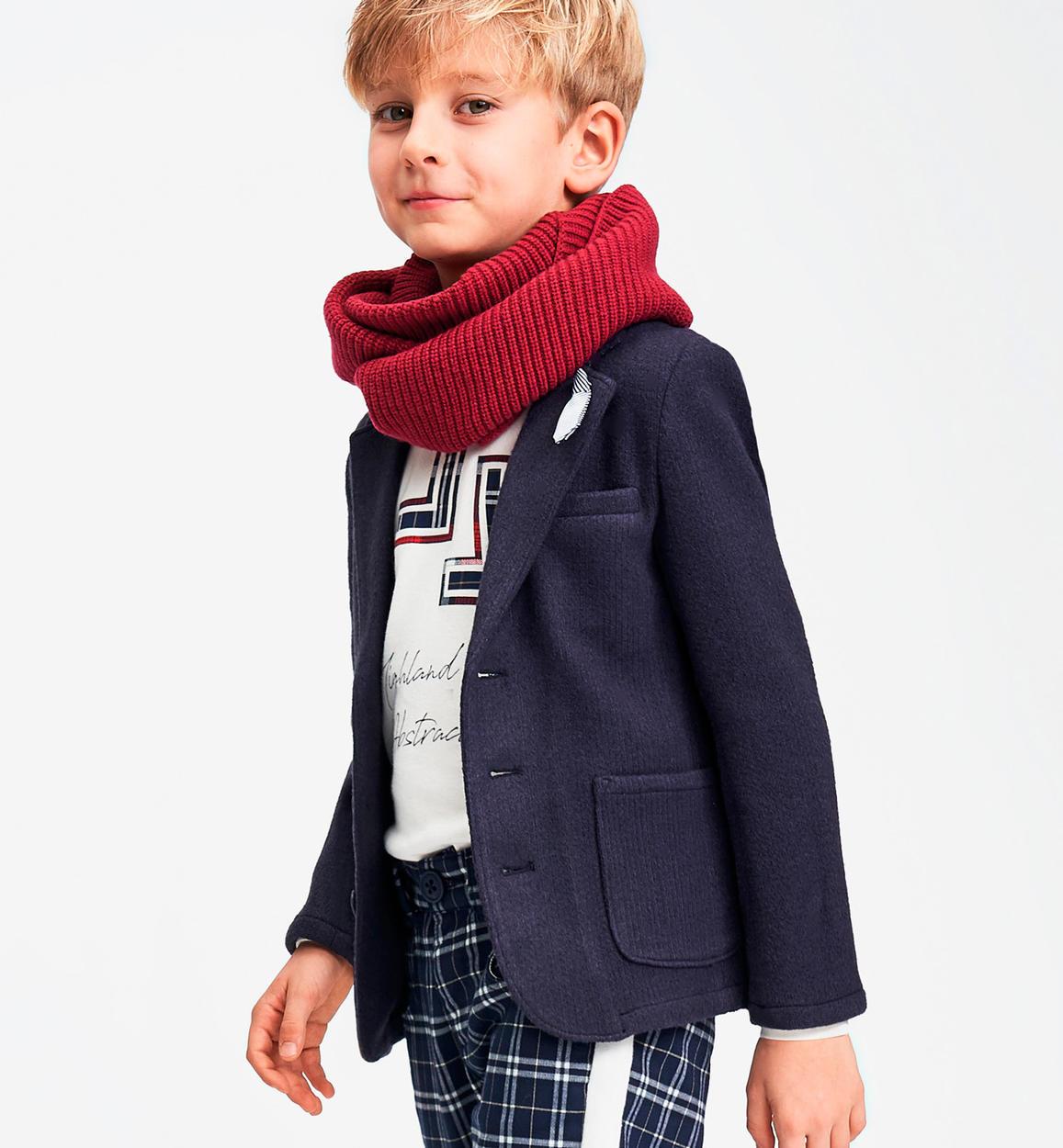 più economico ab311 15cbc Elegante giacca effetto lana cotta per bambino da 6 a 16 anni Sarabanda