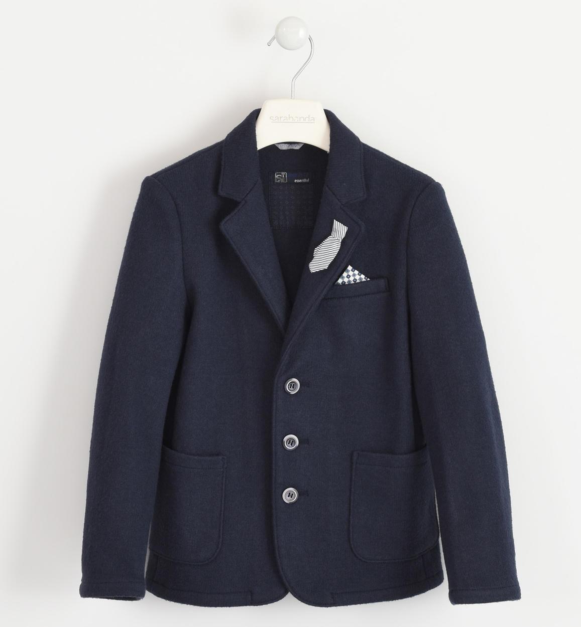 più economico 38f19 f12a7 Elegante giacca effetto lana cotta per bambino da 6 a 16 anni Sarabanda