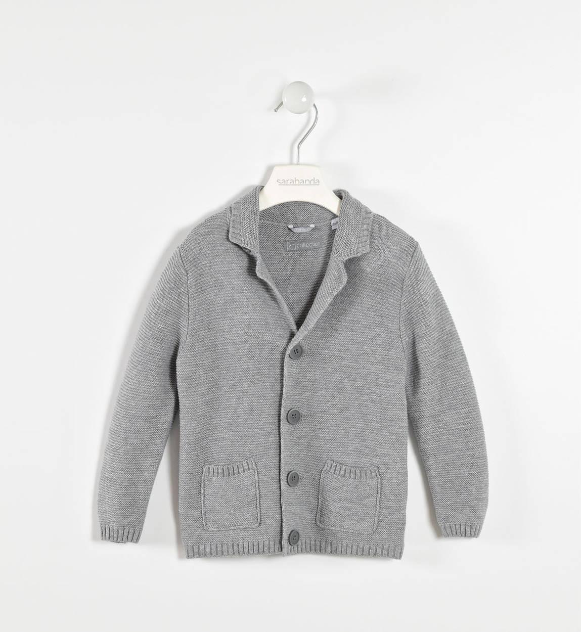 Elegante giacca in maglia per bambino da 6 mesi a 7 anni Sarabanda GRIGIO  MELANGE- 2fd31e50aff4
