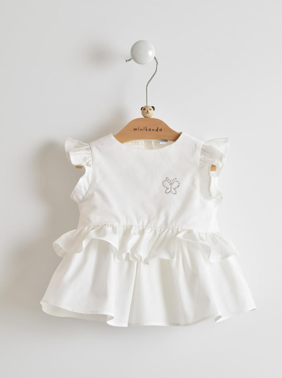 e0ee9158c Summer and comfortable 100% cotton shirt baby girl with rhinestone ...
