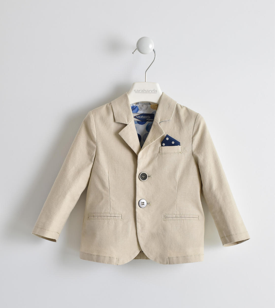 official photos 9231a 36251 Giacca misto lino con pochette per bambino da 6 mesi a 7 anni Sarabanda