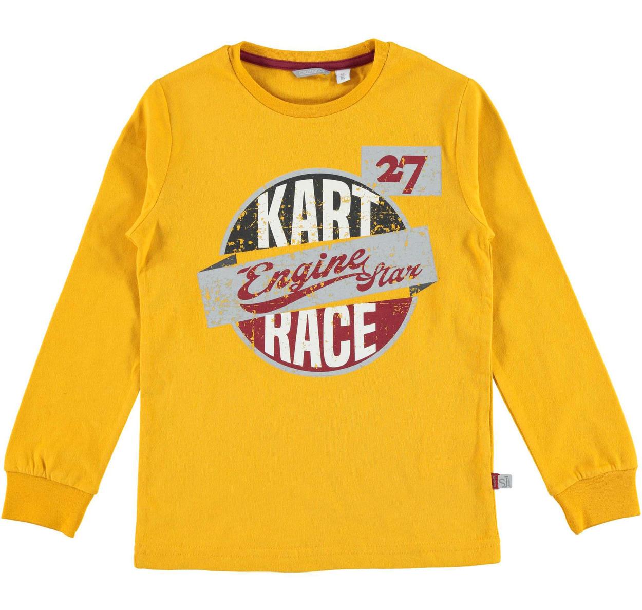 cf12bd81ab Girocollo in jersey 100% caldo cotone per bambino da 6 a 16 anni Sarabanda  GIALLO