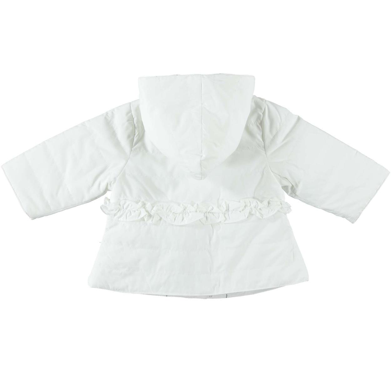 Giubbotto con cappuccio modello reversibile per neonata da 0 a 24 mesi  Minibanda PANNA-0112 b54002f506b