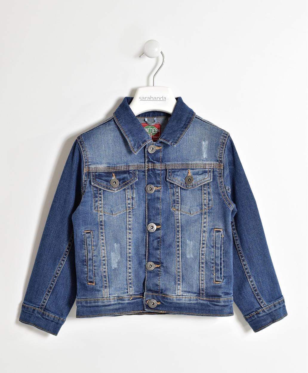 low priced e4bbf f2336 Giubbotto di jeans per bambino da 6 a 16 anni Sarabanda