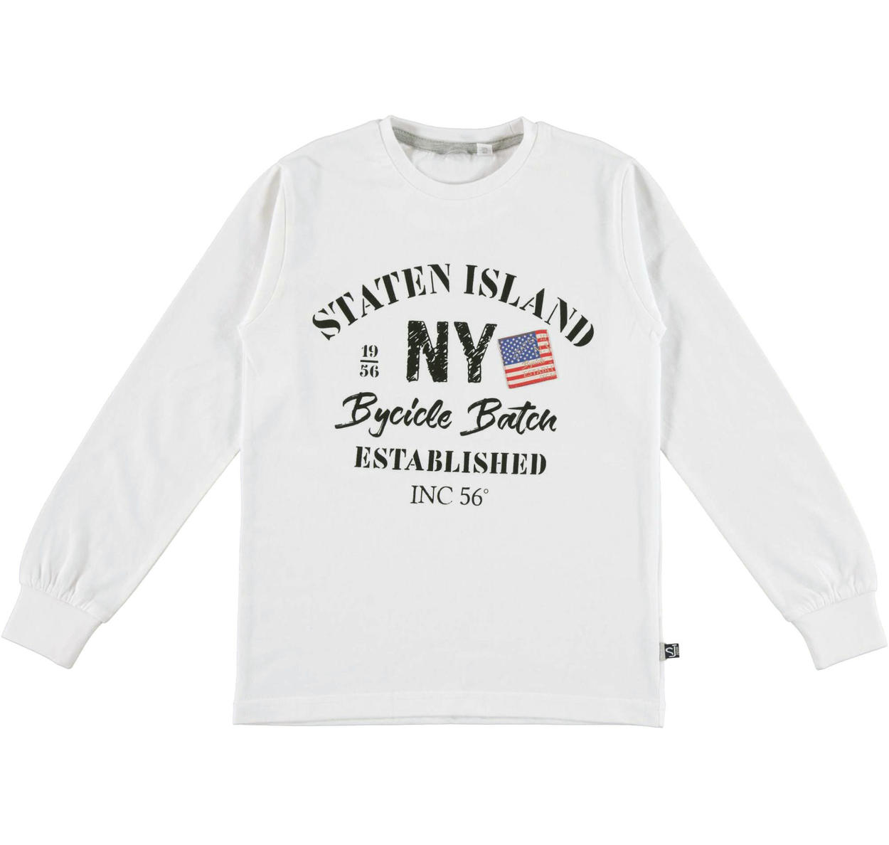 ca5bee1be2 Maglia girocollo in jersey di caldo cotone per bambino da 6 a 16 anni  Sarabanda BIANCO