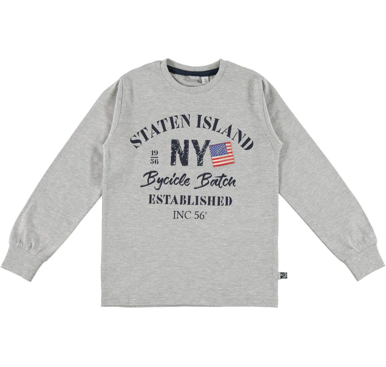 c5c9b999a1 Maglia girocollo in jersey di caldo cotone per bambino da 6 a 16 anni  Sarabanda GRIGIO