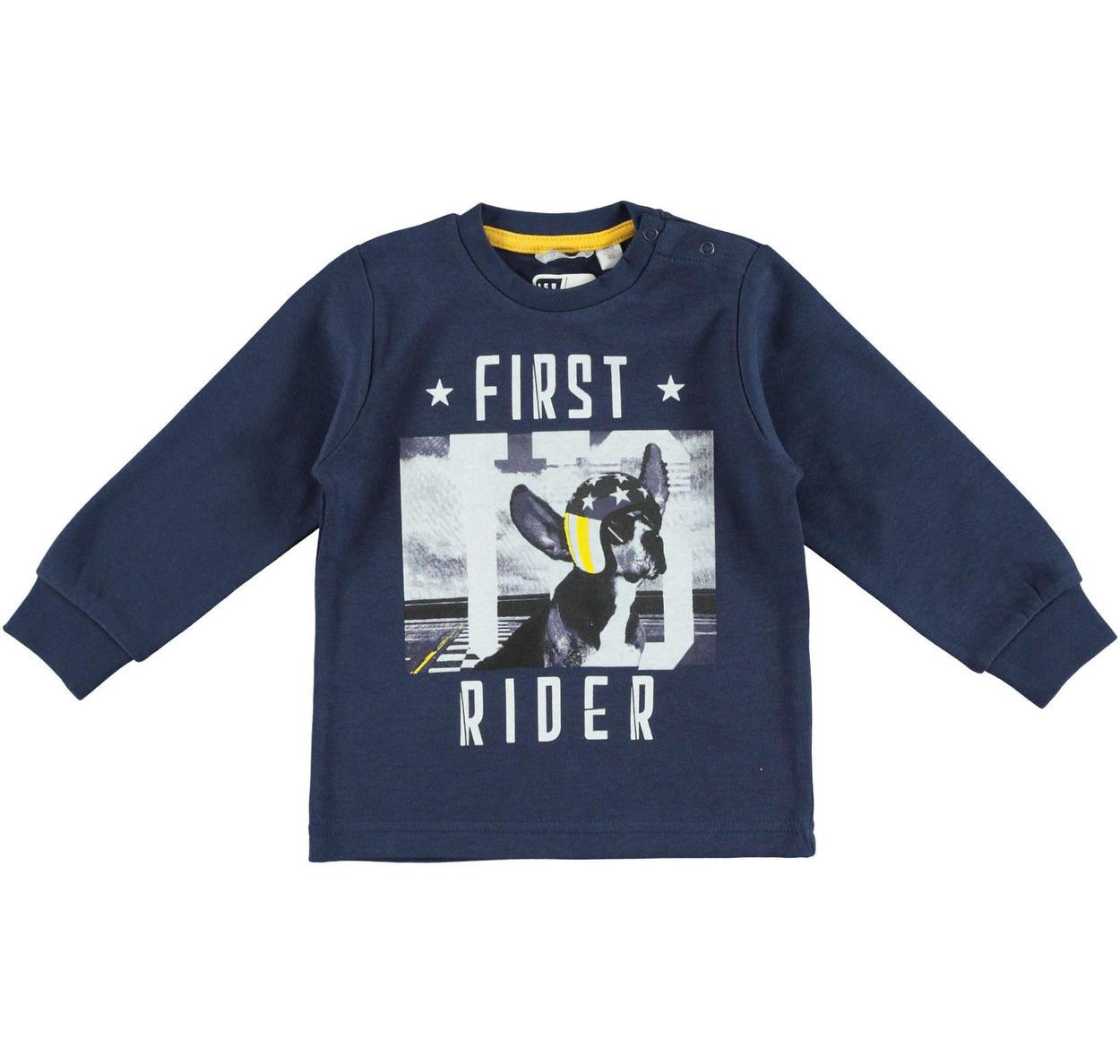 d32f34668e Maglietta con un simpatico cucciolo pilota per bambino da 6 mesi a 7 anni  Sarabanda NAVY