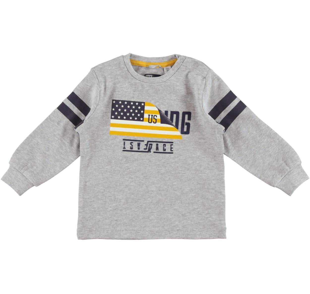 94c39ba6b6 Maglietta sportiva a manica lunga per bambino da 6 mesi a 7 anni Sarabanda  GRIGIO MELANGE