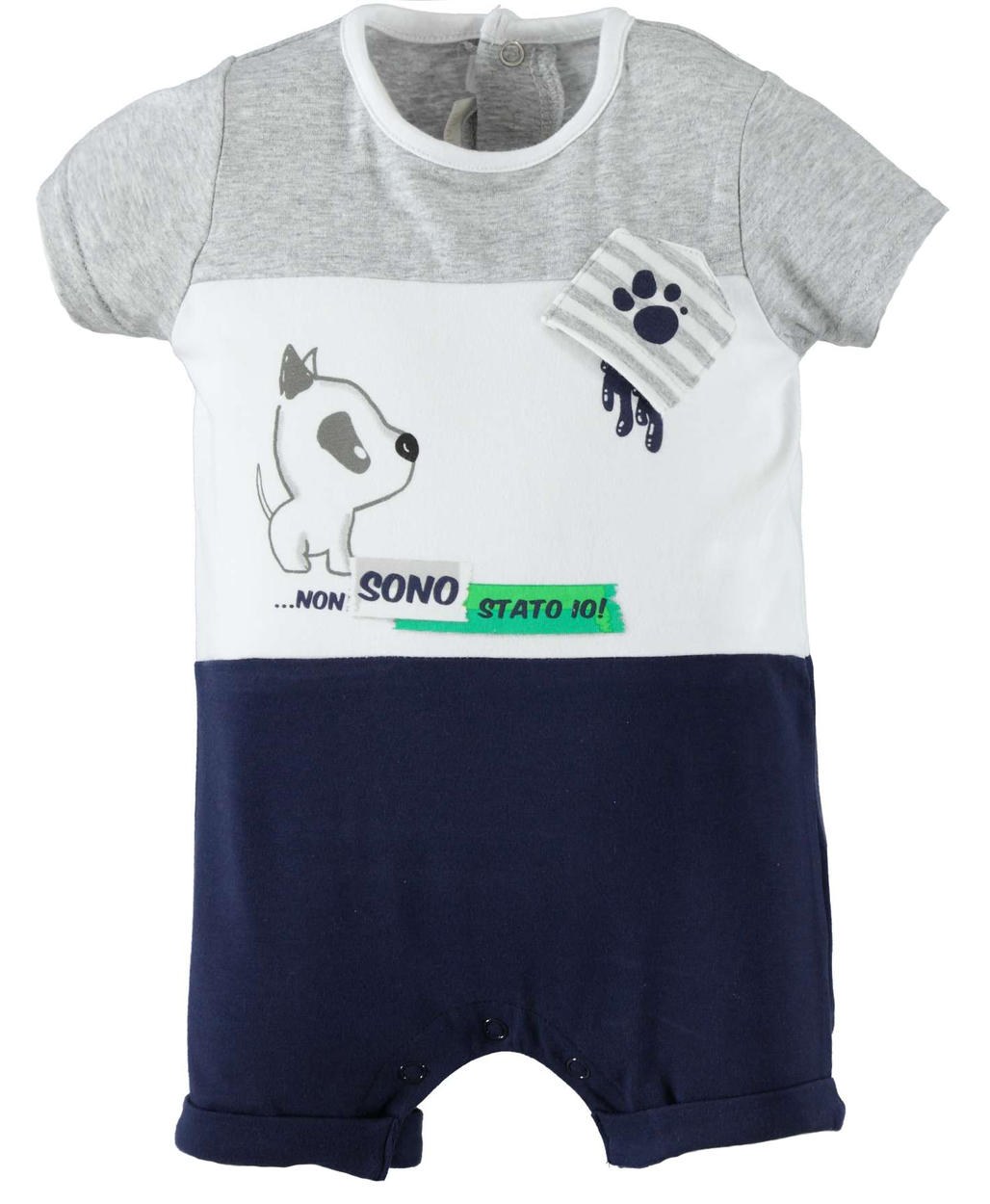 9cc6c730ddfd Summer baby boy romper suit in stretch cotton for newborn from 0 to ...