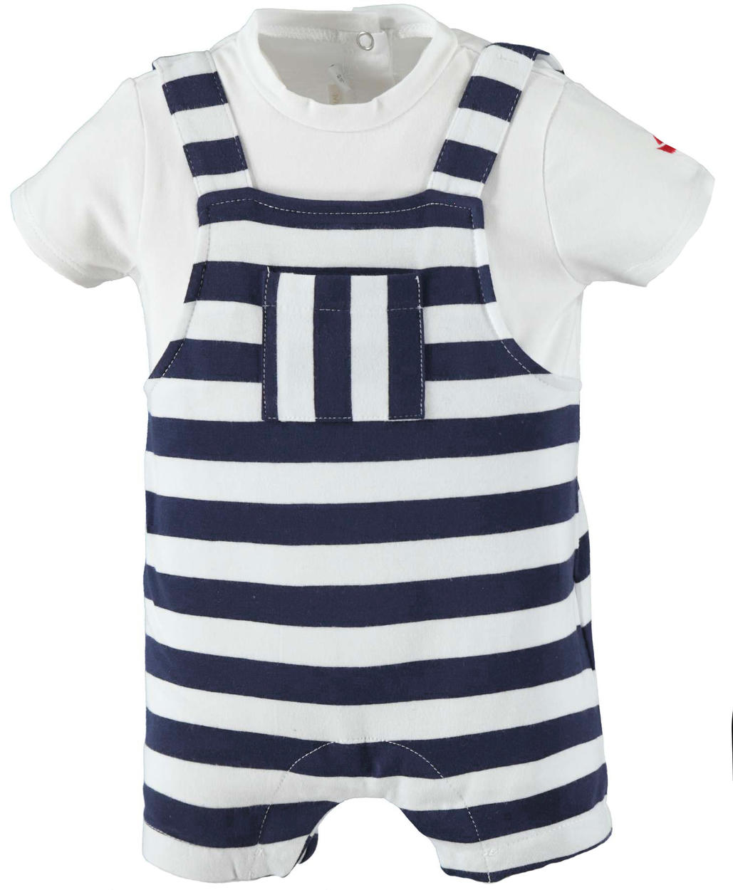 249d5b9e0 Summer baby boy romper suit in stretch cotton for newborn from 0 to ...
