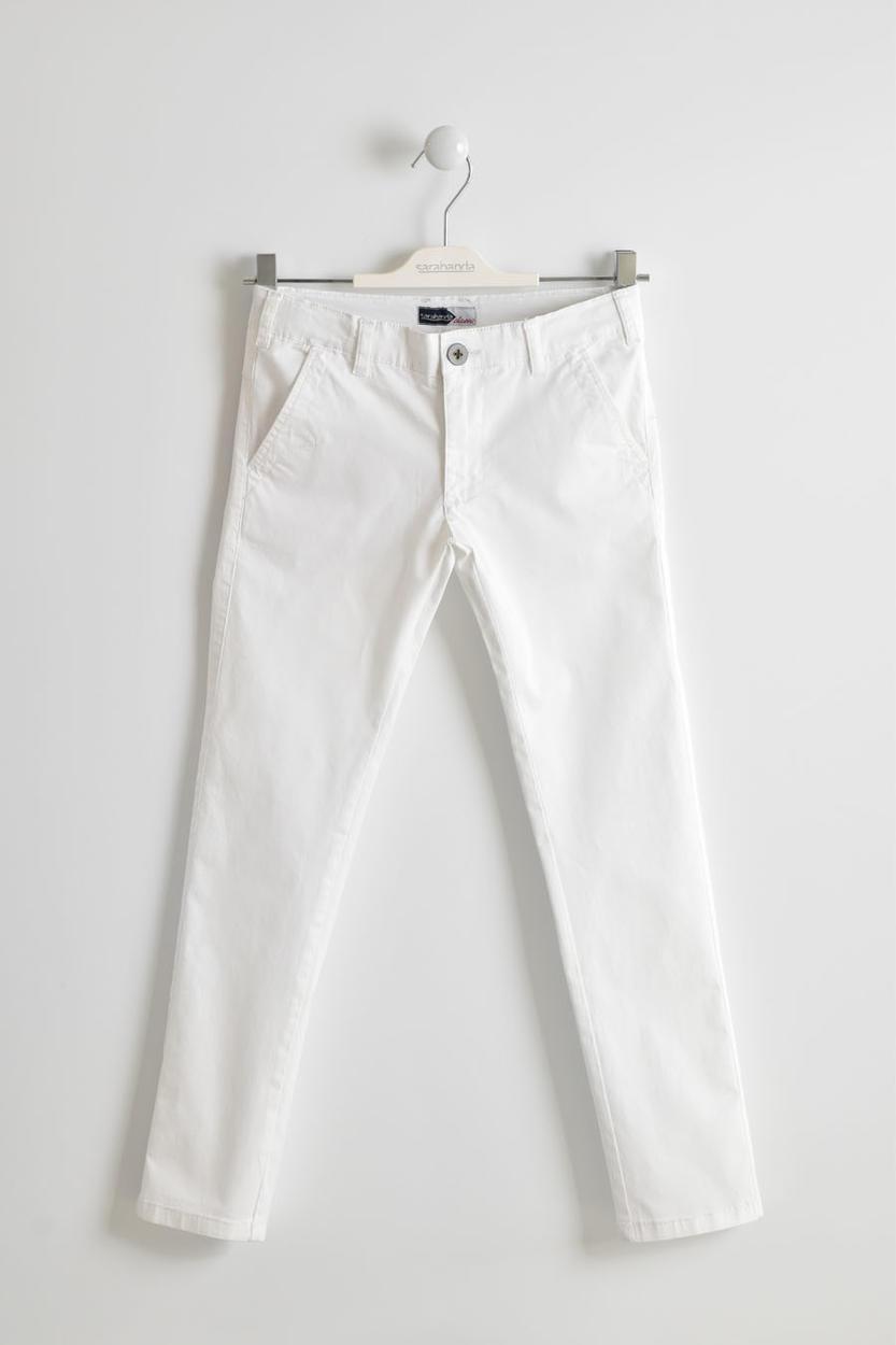 l'atteggiamento migliore 5bb1c 0deb1 Pantalone in cotone stretch modello slim per bambino da 6 a 16 anni  Sarabanda