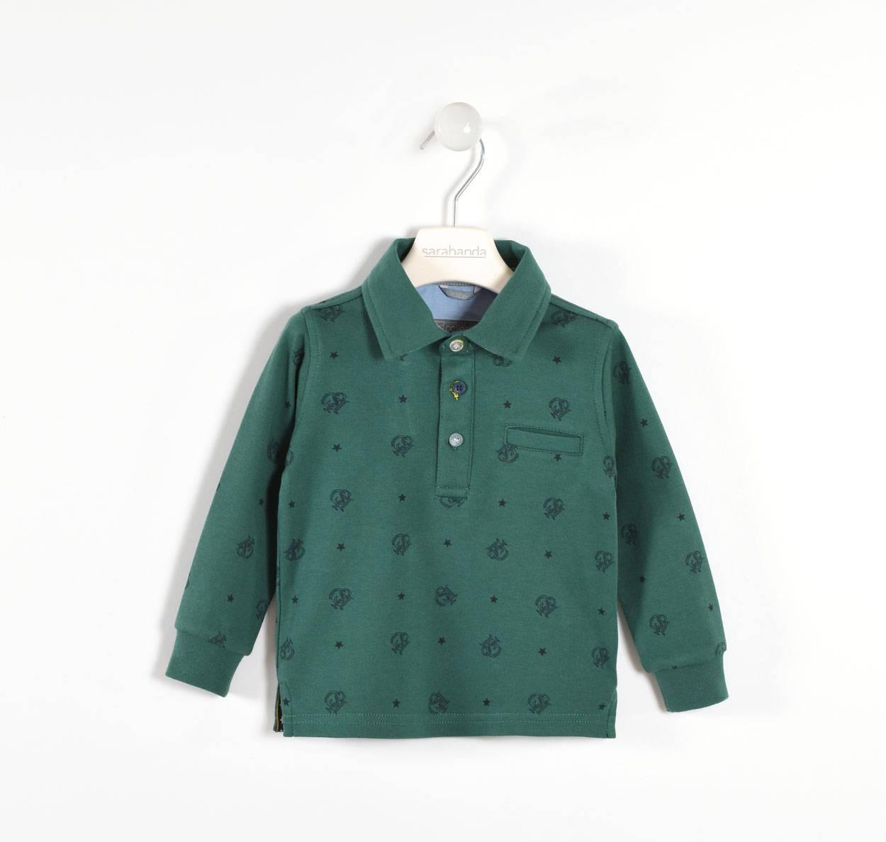 8ee17934e Sarabanda 100% cotton polo shirt with oxford and star grosgrain ...