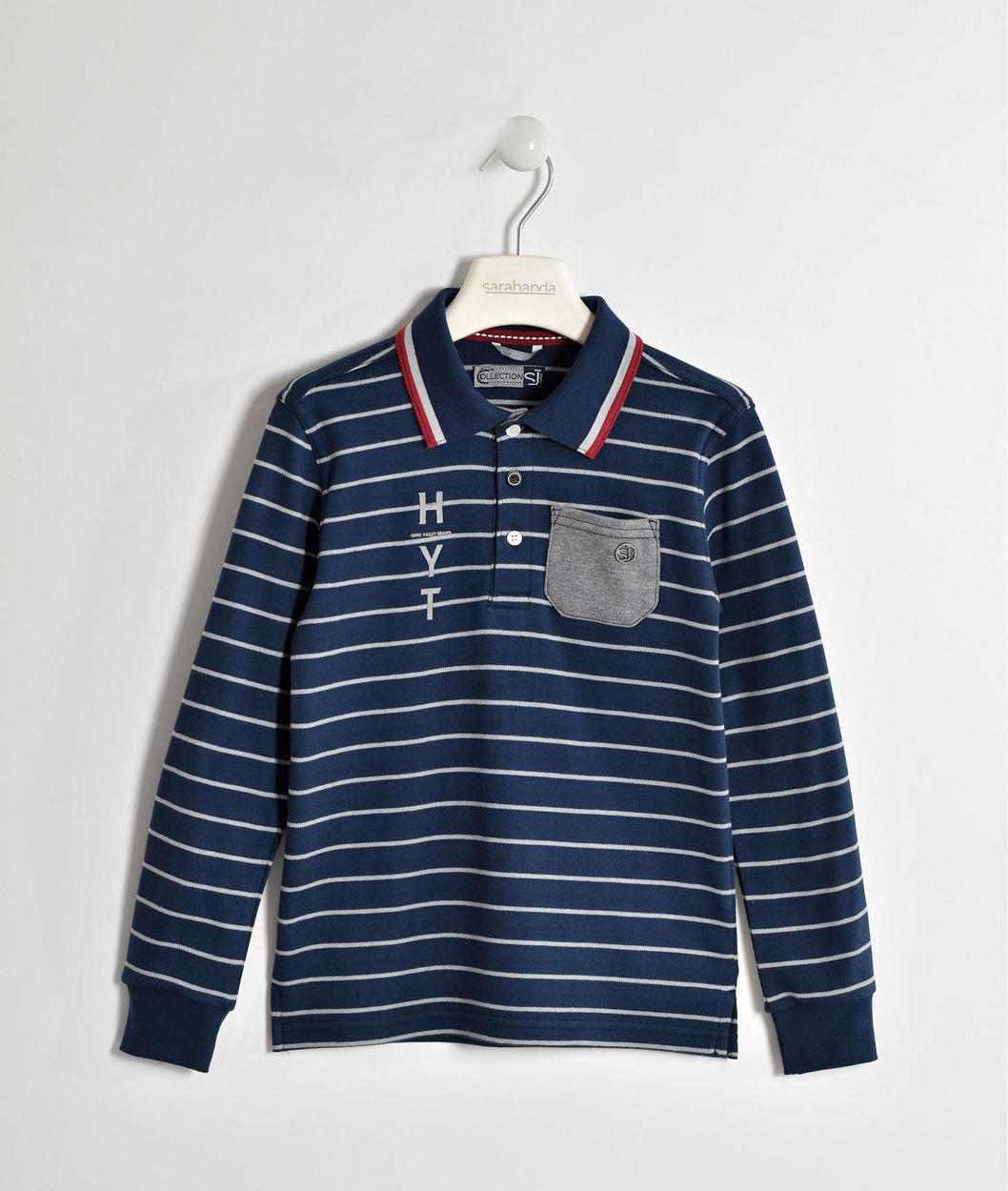 344086480d Sarabanda 100% cotton British style striped polo shirt for boys from 6 to  16 years