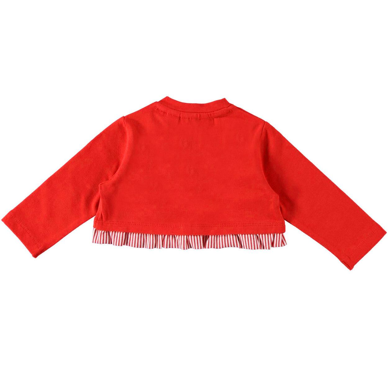 Raffinato cardigan Minibanda a manica lunga in felpa di cotone per neonata  da 0 a 24 a60768af9cb