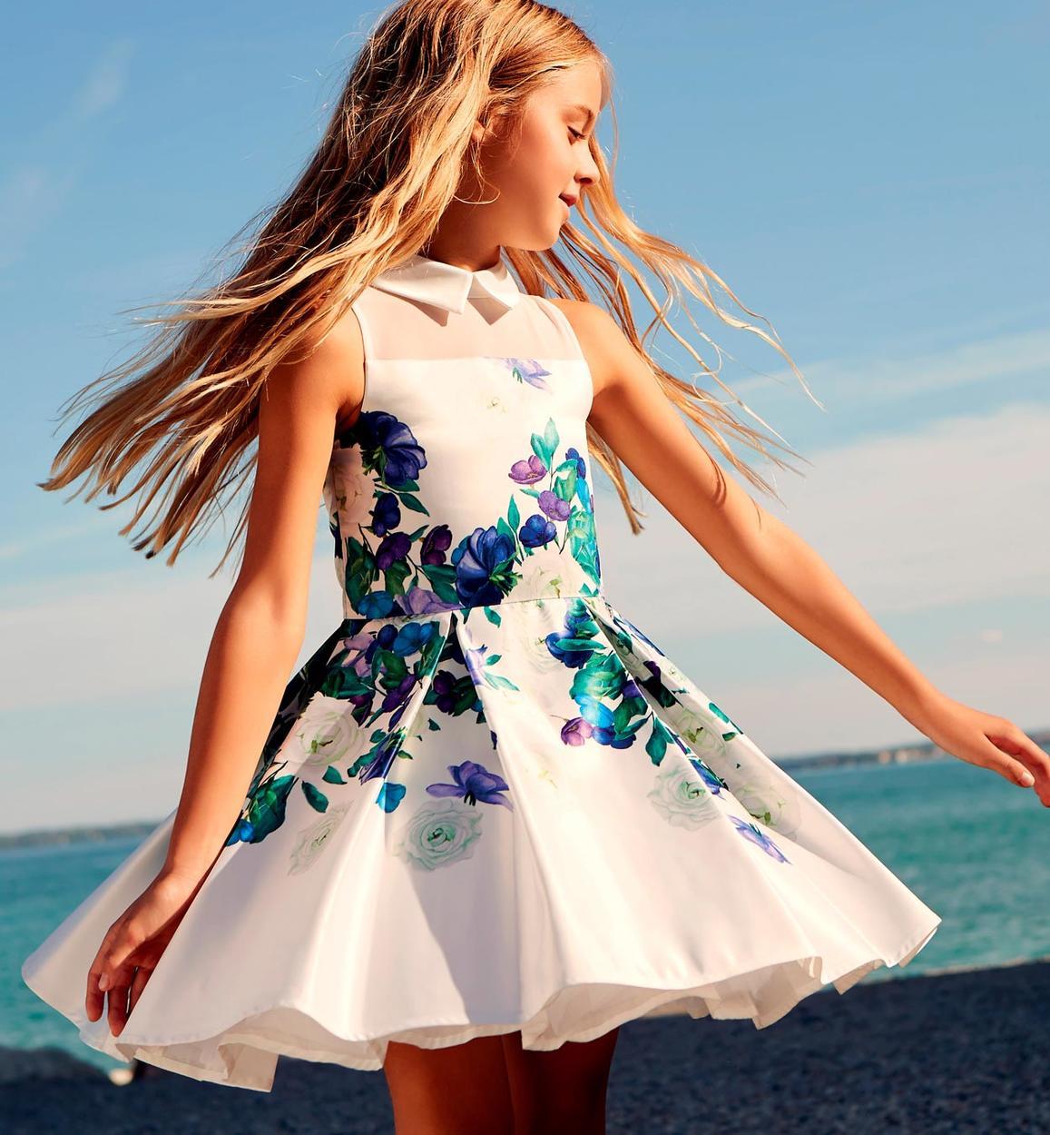modellazione duratura 100% genuino sulle immagini di piedi di Raffinato ed elegante vestitino cerimonia stampa floreale per bambina da 6  a 16 anni Sarabanda