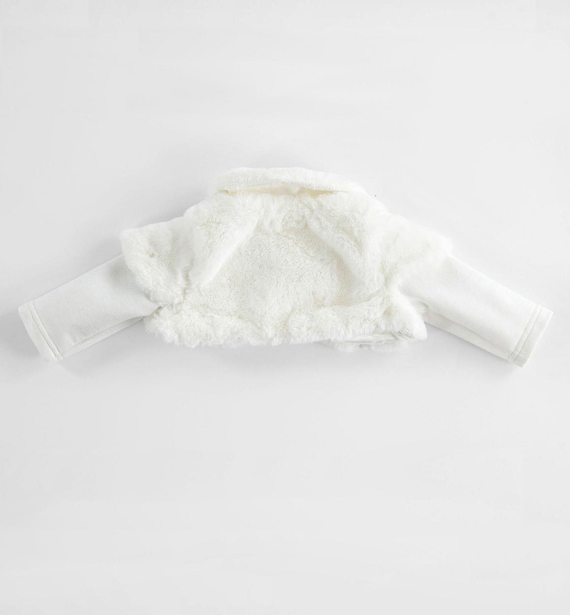 more photos fec80 3eec2 Scaldacuore in eco pelliccia per neonata da 0 a 24 mesi Minibanda