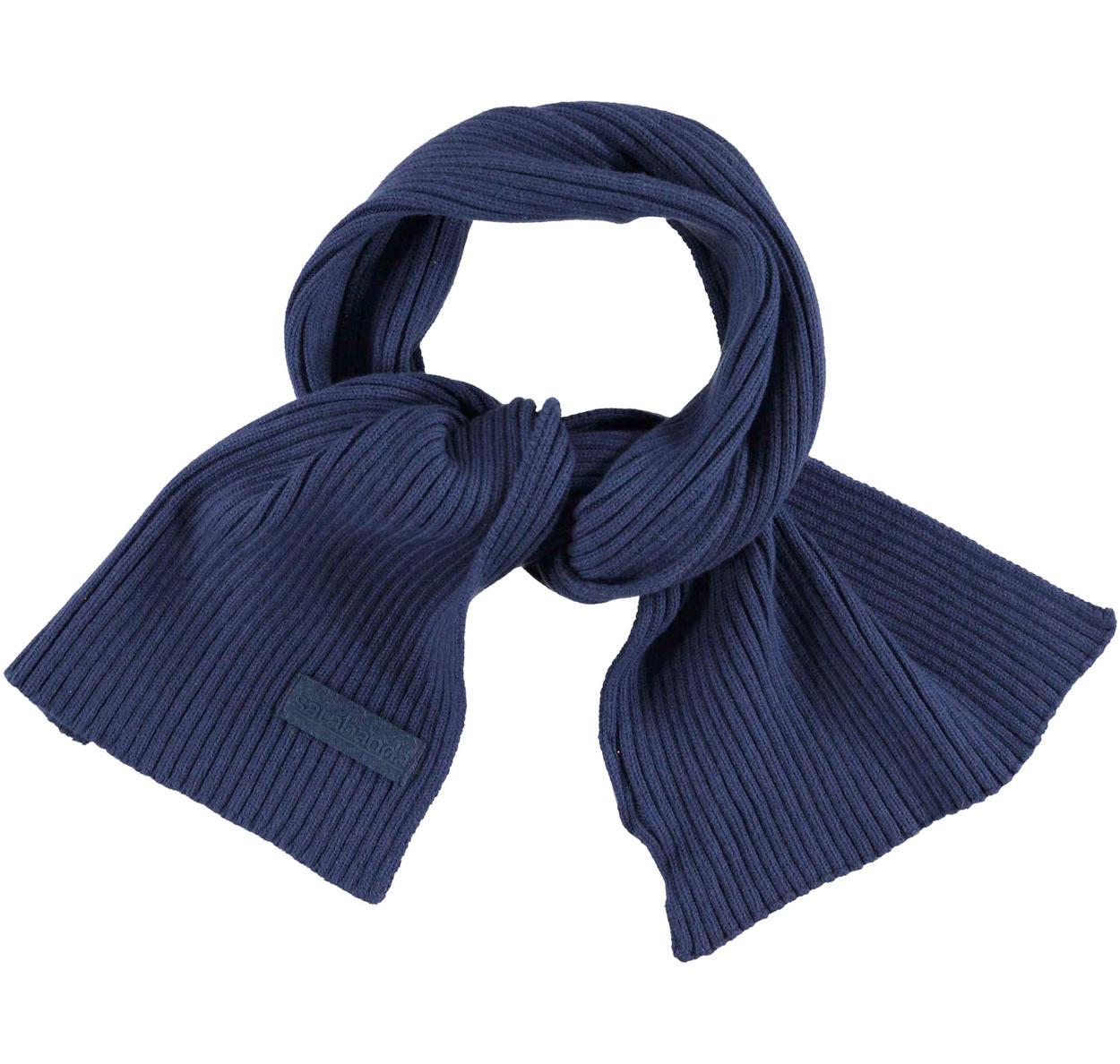 Sciarpa in tricot misto cotone per bambino da 6 mesi a 7 anni Sarabanda  NAVY- f5f268cf063b
