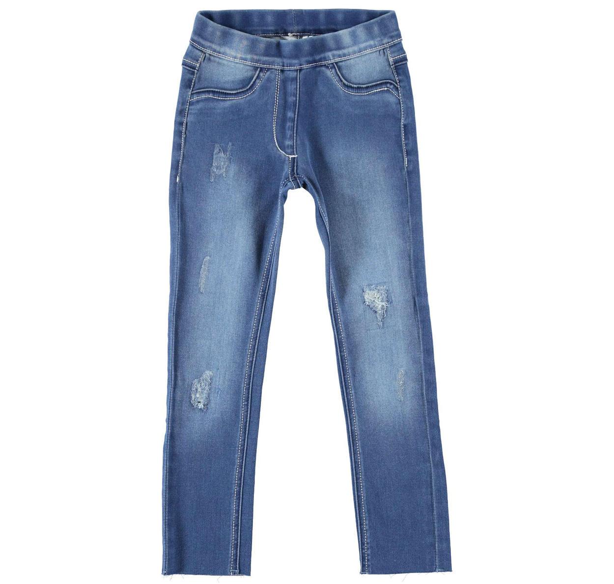 Jeans denim stretch per bambina da 6 a 16 anni Sarabanda STONE WASHED-7450 ddd5d30411d