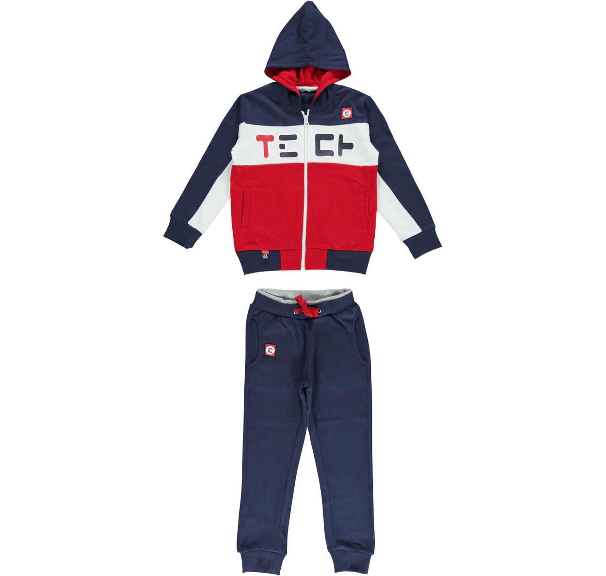 Tuta in jersey pesante per bambino da 6 a 16 anni Sarabanda NAVY-3854 4ab340f254a