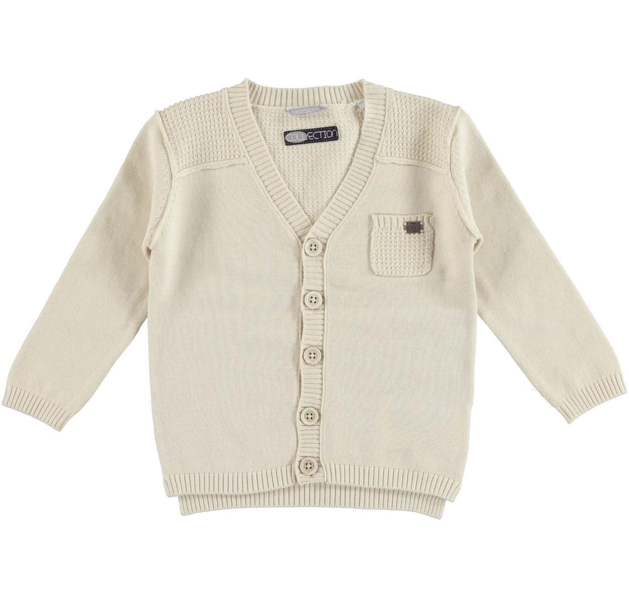 80ae1c4128c4 Versatile Sarabanda 100% cotton cardigan for boys from size 6 months ...