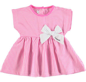 Striped sleeveless dress PINK