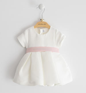 Ottoman solid colour short-sleeved baby girl dress PINK