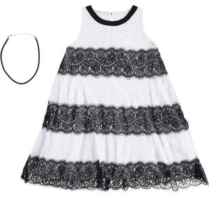 Girls ceremony dress: sophisticated floral lace dress WHITE