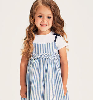 Two-piece t-shirt and pinafore dress WHITE