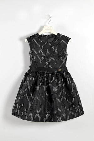 Jacquard dress with heart pattern  BLACK