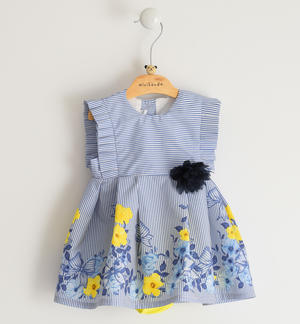 Soft 100% cotton fabric sleeveless baby girl dress