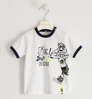 Cheerful t-shirt with tiger WHITE